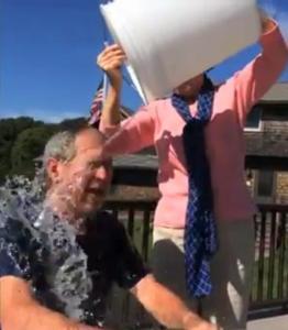 george-w-bush-takes-als-ice-bucket-challenge-dares-bill-clinton-follow